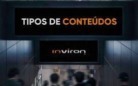 Tipos de conteúdos em digital signage