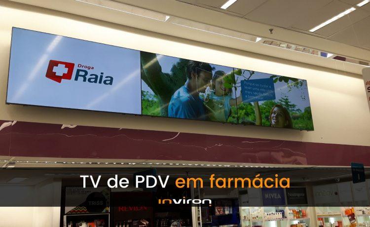 inviron: tv de pdv em farmácia